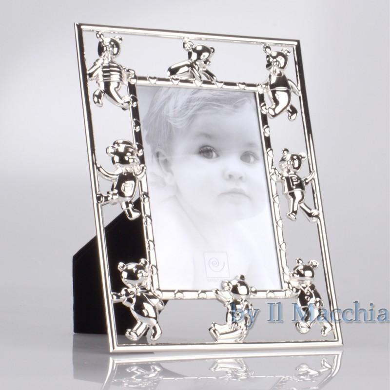 Cornice Fotografica 10x15 Portafoto in metallo con Orsetti Mascagni a117