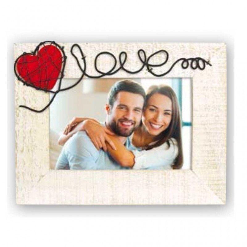Cornice Fotografica 10x15 Love con cuore portafoto San Valentino