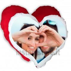 Cuscino a forma di cuore personalizzato con foto stampa sublimatica