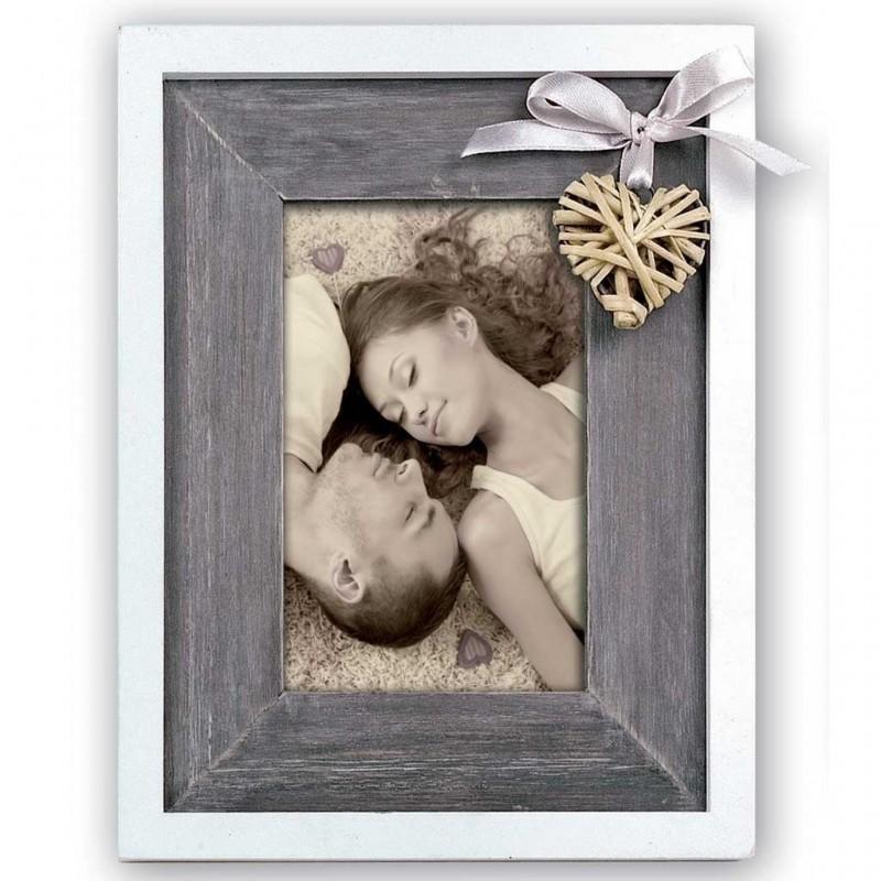 Cornice Fotografica 13x18 in legno con cuore Portafoto Blaye