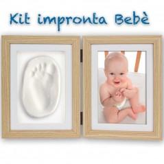 Cornice portafoto 10x15 in legno con impronta bebè - Abel W9046
