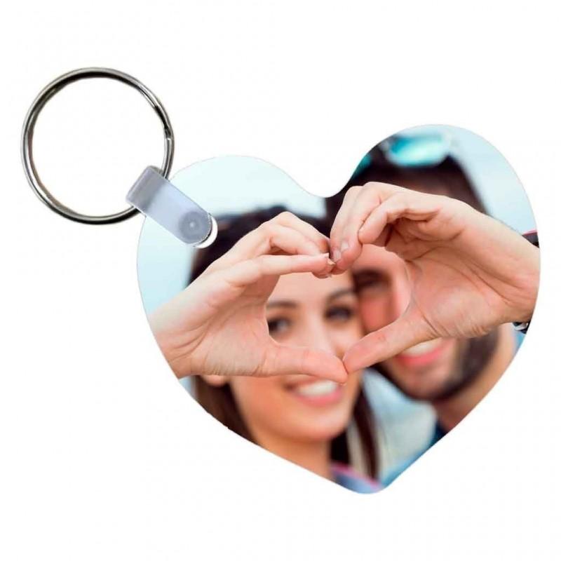 Portachiavi a forma di cuore personalizzato con foto a stampa sublimatica