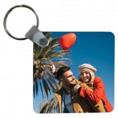 Portachiavi personalizzato con foto a stampa sublimatica quadrato