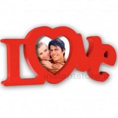 Cornice Fotografica scritta love Portafoto 10x10 mod. Pepe