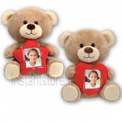 Peluche Portafoto Teddy pupazzo San Valentino Cornice con foto