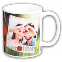 Tazza in ceramica San Valentino personalizzata con foto in polaroid - idea regalo