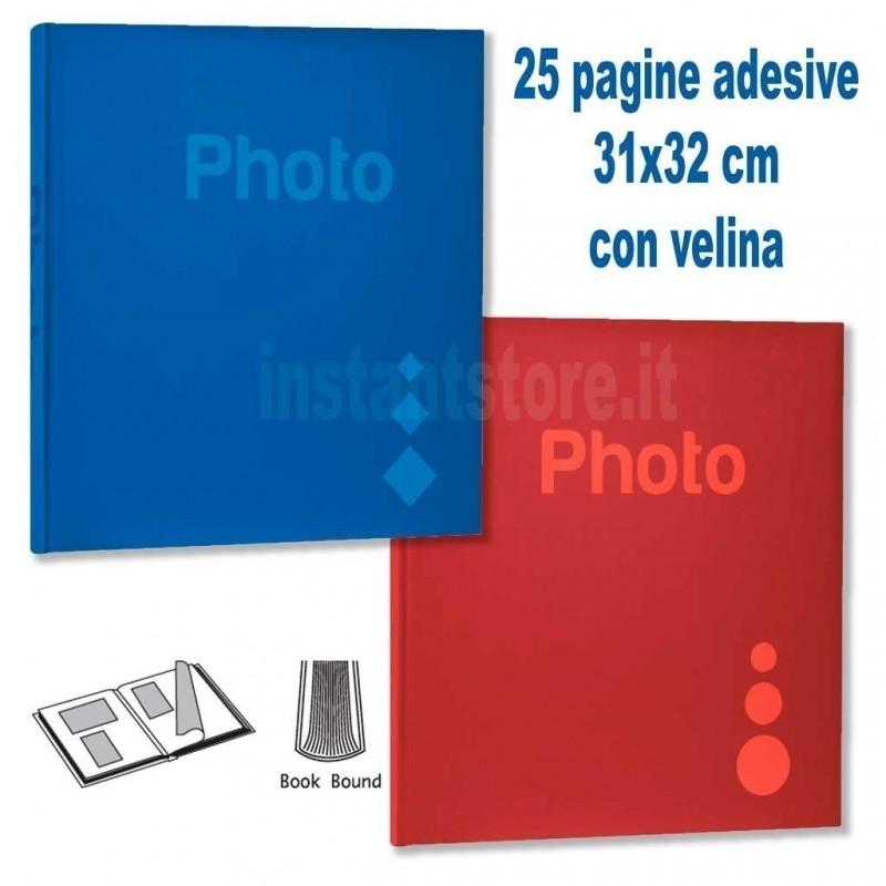 Album Fotografico classico 25 pagine adesive 31x32 con velina