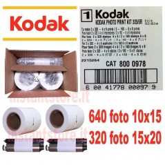 Kodak photo print Kit per stampante 305 / 6R 640 foto Kiosk