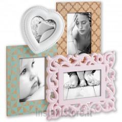 Cornice Fotografica in legno Bercy con cuore Portafoto 13x18