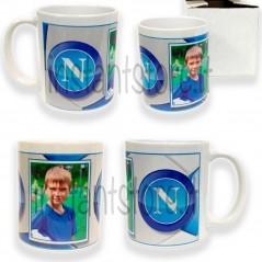 Tazza in ceramica calcio Napoli squadra del cuore personalizzata con foto