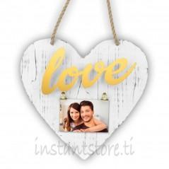 Cornice Fotografica forma di cuore Portafoto in legno - Elvira gold