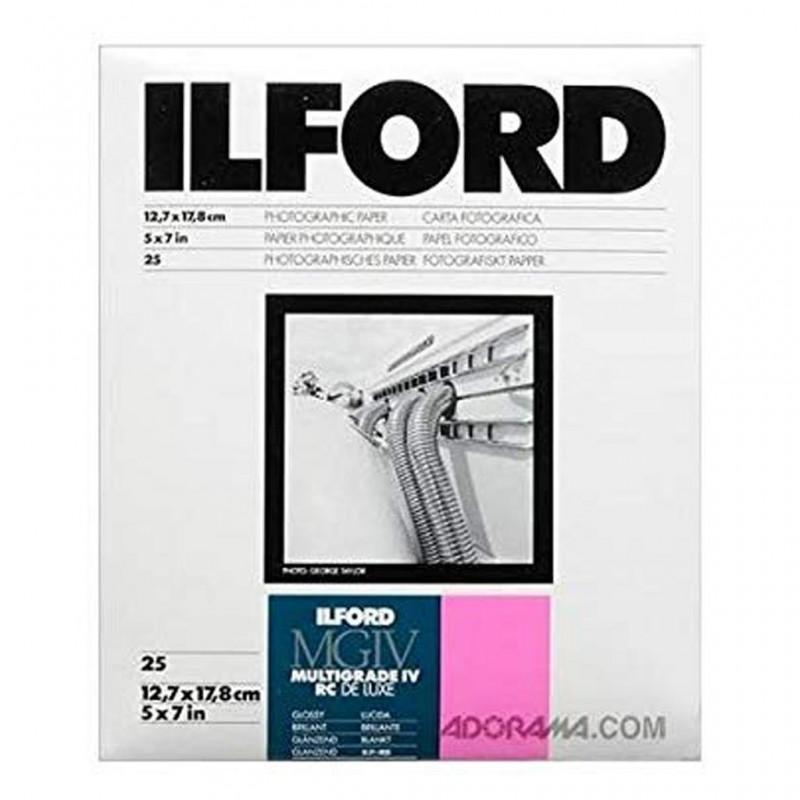 Ilford Multigrade IV RC del Luxe 25 fogli 13x18 carta fotografica lucida