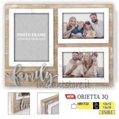 Cornice Fotografica multipla 10x15 13x18 Portafoto con scritta family