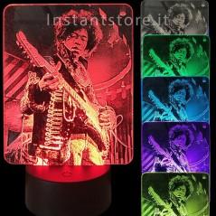 Lampada Led personalizzata con la tua foto su plexiglass es. jimi hendrix