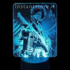 Lampada personalizzata con la tua foto su plexiglass es. jimi hendrix Led 3d