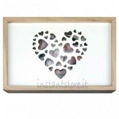 Scatola in legno per foto 13x18 e Pennetta usb - Zep love box usb - instantstore