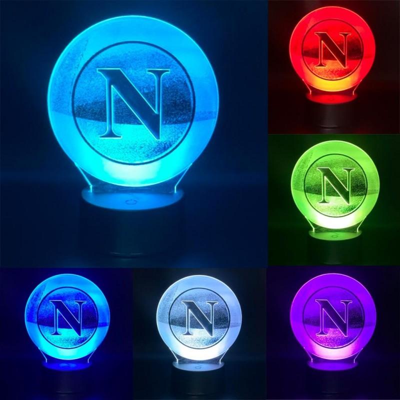 Lampada Calcio Napoli personalizzabile con led multicolore