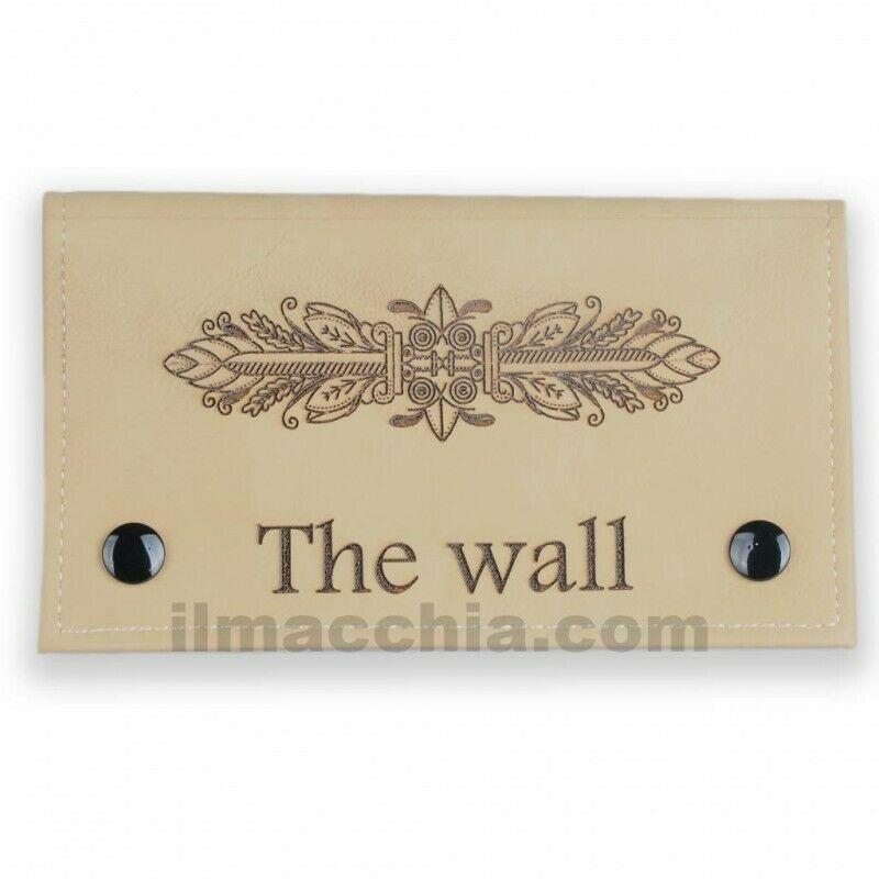 Portatabacco a clip in eco pelle personalizzato con nome logo ecc