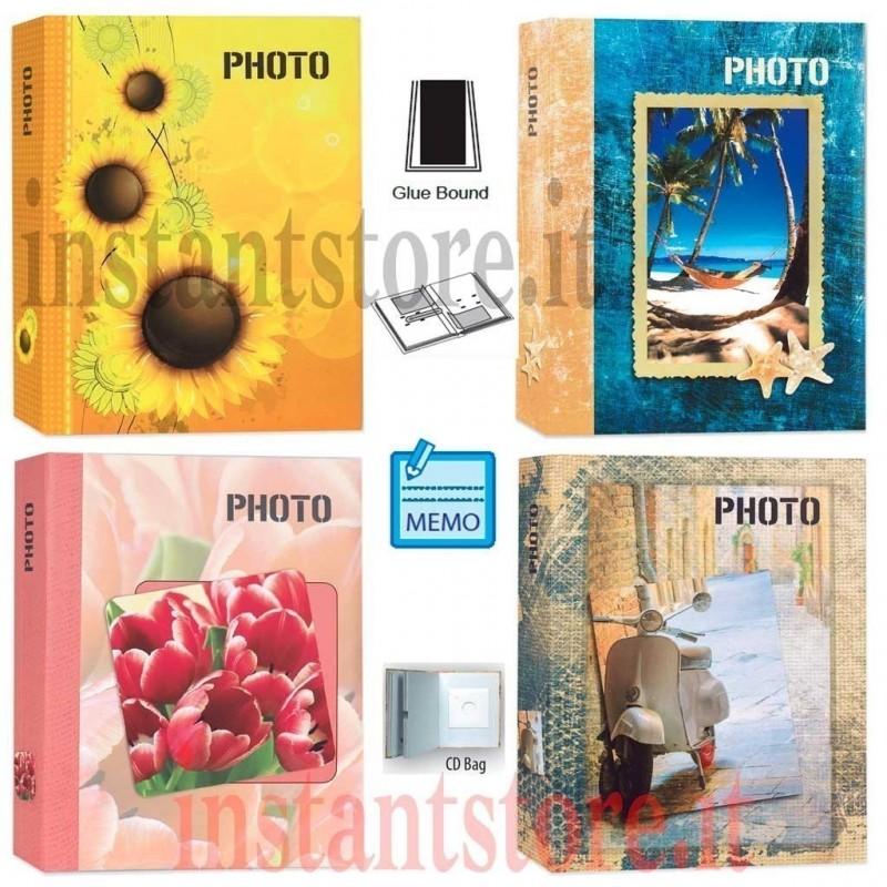 Album Fotografico 200 foto 13x19 13x18 a tasche ph57200 4 fantasie con memo