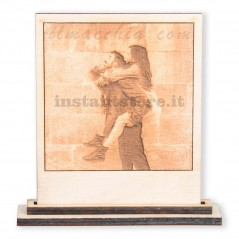 Fotoincisione su legno personalizzata formato polaroid
