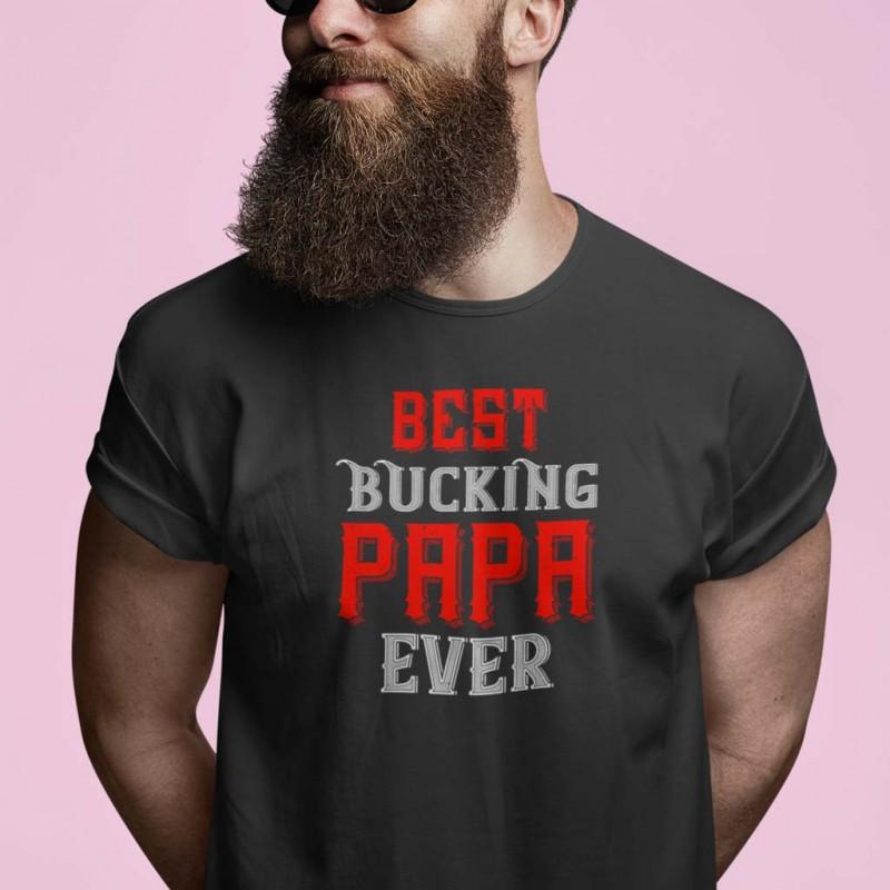 T-Shirt nera maglietta a tema papà in controtendenza