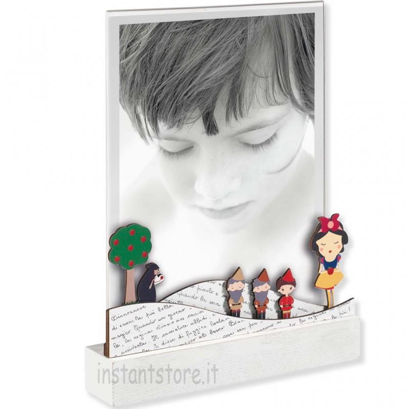 Cornice mascagni 13x18 in legno e acrilico Portafoto con biancaneve a1272