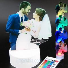 Lampada led personalizzata con foto e incisione idea regalo San Valentino